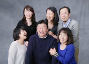 お正月は家族写真