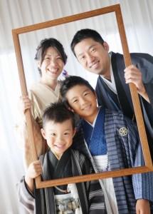 G様の七五三、家族写真